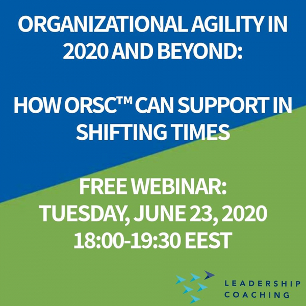 Webinar: Organizational Agility In 2020 & Beyond