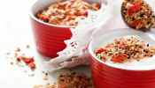 Yogurt Mousse With Cereal And Goji Berries