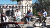 Amoeba Trio Performs At The Ancient Roman Agora Of Athens
