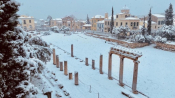 Medea Storm Covers Athens In Heavy Snow