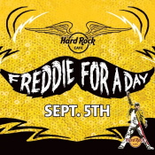 Freddie For A Day At Hard Rock Cafe!