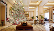 Christmas Tree Illumination At Hotel Grande Bretagne