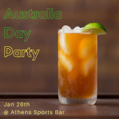 Australian Day Party At Athens Sports Bar