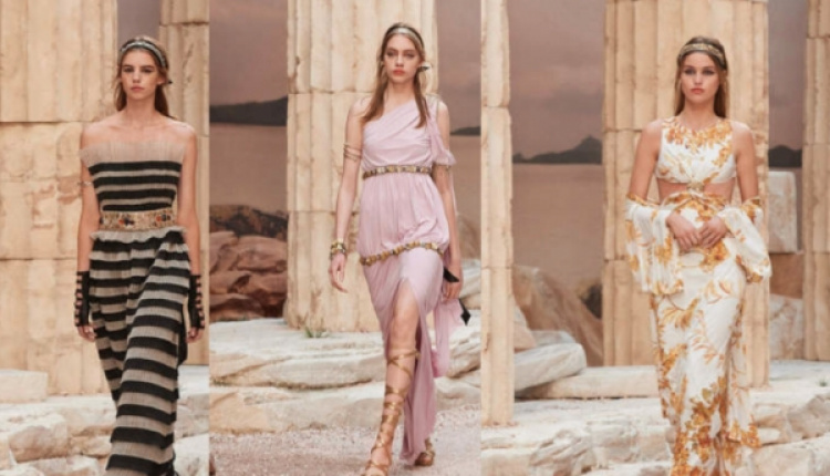 b529a0d1df5d Karl Lagerfeld Brings Ancient Greece To Paris For 2018 Chanel Cruise  Collection