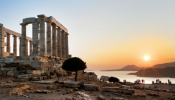 Monumental Grand Fashion Show Takes Place At The Temple Of Poseidon