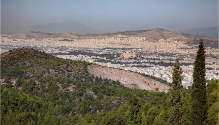 Hiking Mount Ymittos In Athens